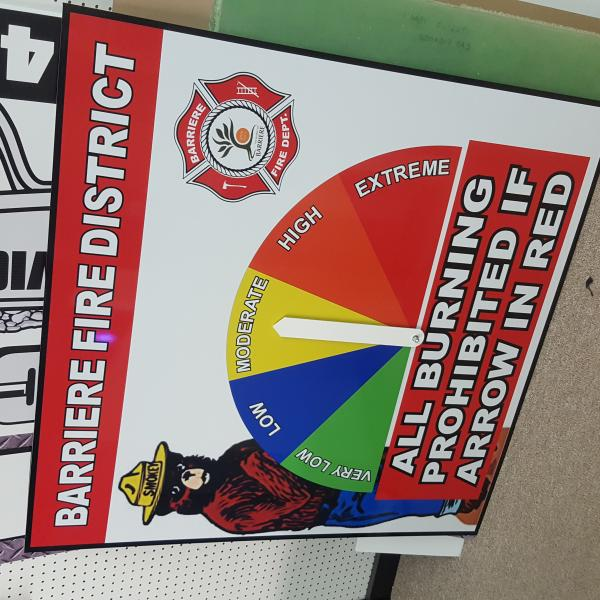Barriere Fire Department Signage