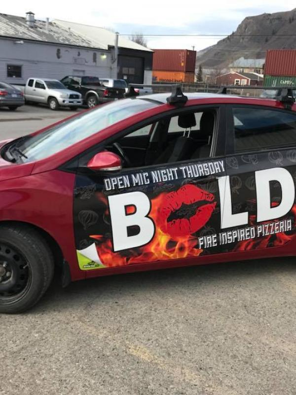 Bold Pizzeria - Drivertise Kamloops Wrap