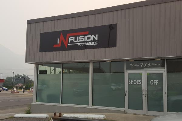 Infusion Fitness Kamloops Signage