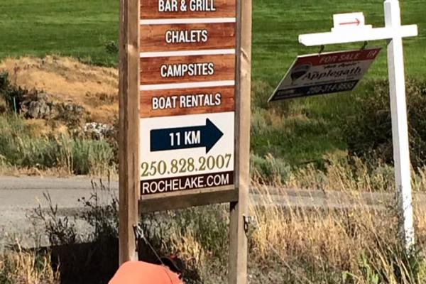Roche Lake Sign